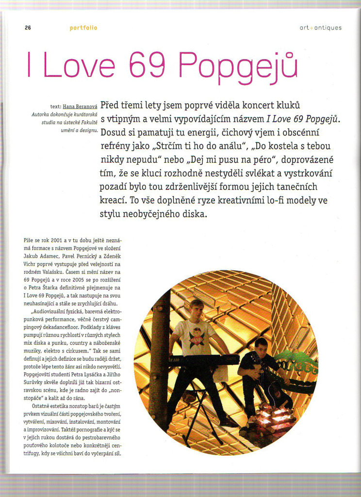 I Love 69 Popgejů, Art and Antique, 3/2010 (autor: Hana Beranová)